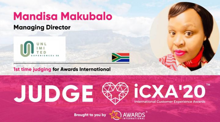 Mandisa Makubalo to judge at the 2020 International Customer Experience Awards